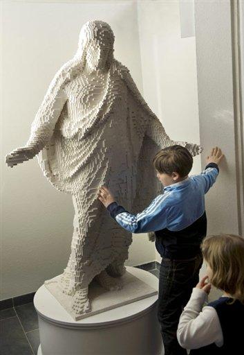 Lego Jesus Statue in Sweden